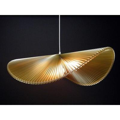 Exkluzív függesztett mennyezeti lámpa, extra hullámvonalú, arany - ONDES
